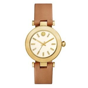 Tory Burch Women's Classic T Leather Strap Watch
